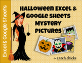 Halloween Excel &  Google Sheets Mystery Pictures