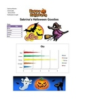 Halloween Excel Lesson Instructions and example