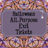 Halloween Exit Tickets