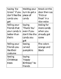 Halloween Expected vs. Unexpected Behaviors