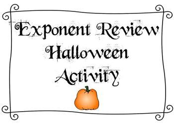 Halloween Math Activity - Exponent Review!
