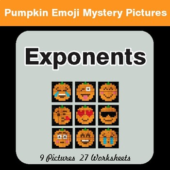 Halloween: Exponents - Color-By-Number Math Mystery Pictures