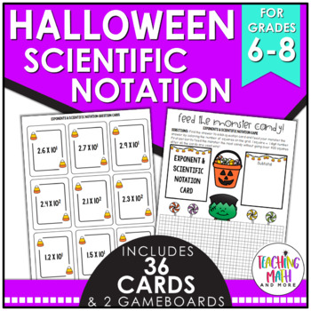 Halloween Exponents & Scientific Notation Game