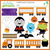 Halloween Express Train Clipart and Lineart