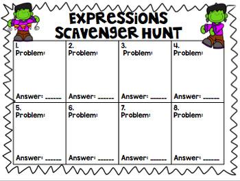 Halloween Expressions Scavenger Hunt - NO PREP