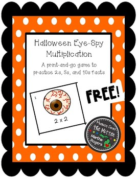 Halloween Eye-Spy Multiplication Game