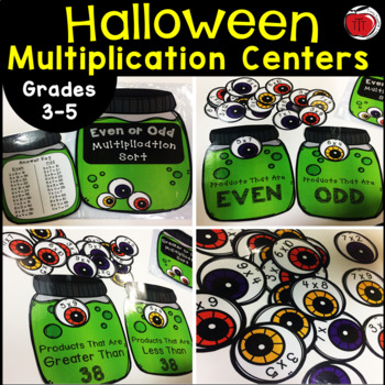 Halloween Eyeball Multiplication Centers For Big Kids