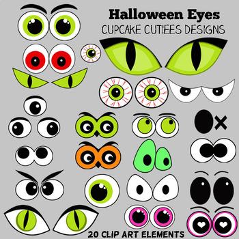 Halloween Eyes Digital Clip art Set- Set 01