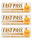 Halloween FAST PASS!  Kids Love Them! (Color)