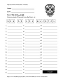 Halloween FREE - Dia De Los Muertos - How Many Words Can You Make?