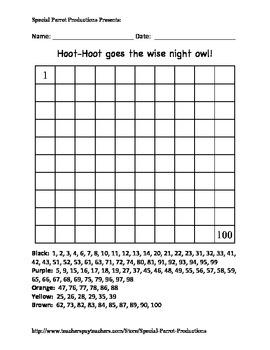 Halloween - Owl - Hundreds Chart!