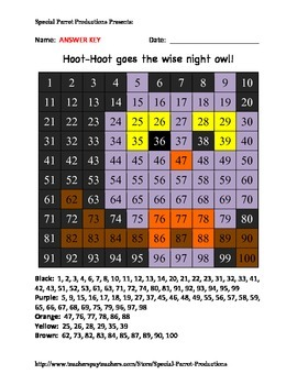 Halloween - Owl - Hundreds Chart!