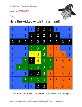 Halloween FREE - Witch - Color By Numbers!