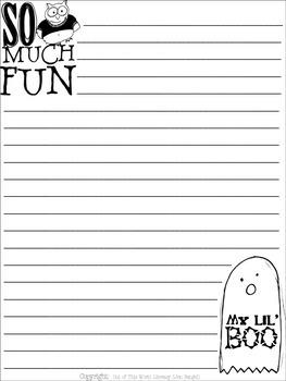 Halloween FREE Writing Paper