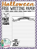 Halloween FREE Writing Paper