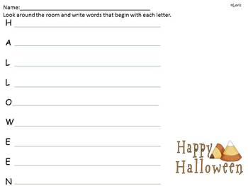 Halloween *FREEBIE*