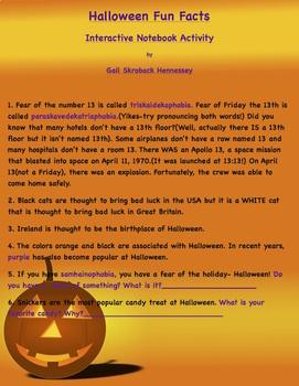 Halloween FREEBIE(Possible Interactive Notebook Activity)