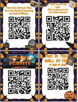 Halloween FREEBIE QR Code Read Alouds