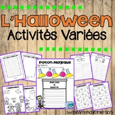 Halloween FRENCH activity pack