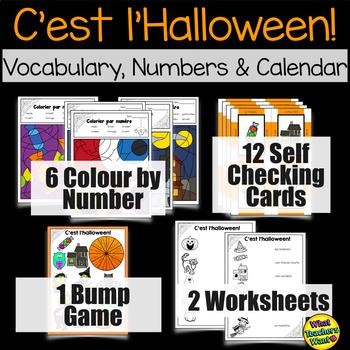 Halloween FSL Vocabulary - Games and Activities - C'est l'Halloween