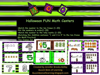 Halloween Centers for Math(1-20)