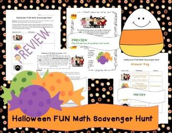 Halloween FUN Math Scavenger Hunt