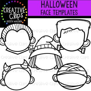 Halloween Face Templates: Halloween Clipart {Creative Clips Clipart}