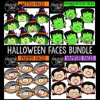 Halloween Faces Bundle {Creative Clips Clipart}
