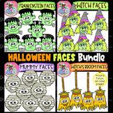 Halloween Faces Bundle: Halloween Clipart {DobiBee Designs}