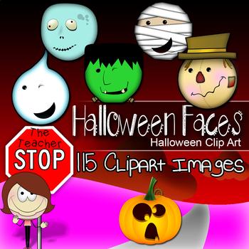 Halloween Faces Bundle - 115 Mummy|Ghost|Scarecrow|Zombie|Frankenstein|Pumpkin