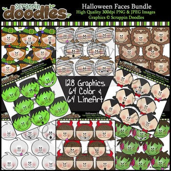 Halloween Faces MEGA BUNDLE ($20 value)