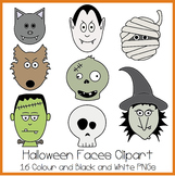 Halloween Faces Clipart