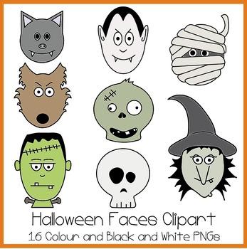 Halloween Faces Clipart