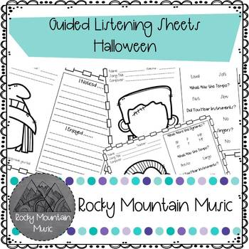 Halloween Guided Listening Sheets