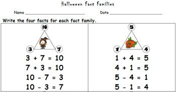 Halloween Fact Families