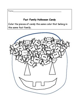 Halloween Fact Family Addition to 20