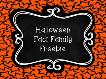 Halloween Fact Family~FREEBIE