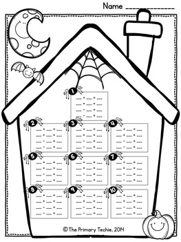 Halloween Fact Family MOVE IT! Addition and Subtraction