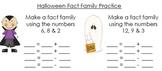 Halloween Fact Family Practice
