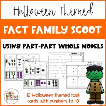 Halloween Fact Family Scoot
