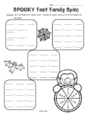 Halloween Fact Family Spinner Activity - 2 sheets! Math Center
