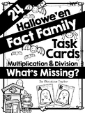 Halloween Fact Family Task Cards:  Multiplication and Divi