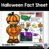 Halloween Fact Sheet for Early Readers - FREEBIE
