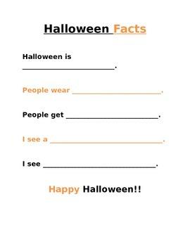 Halloween Fact Worksheet