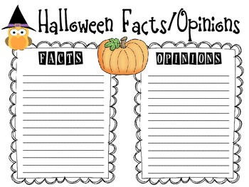 Halloween Fact and Opinion