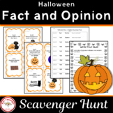 Halloween Fact and Opinion Scavenger Hunt with Teaching Posters