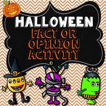 Halloween Fact or Opinion Activity