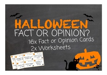 Halloween Fact or Opinion? Literacy Center Activity!