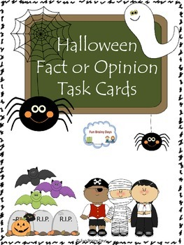 Halloween Fact or Opinion Task Cards