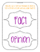 Halloween Fact vs Opinion Task Cards & Anchor Chart